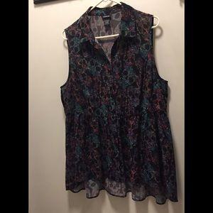 Torrid Sz 1 Sheer sleeveless blouse